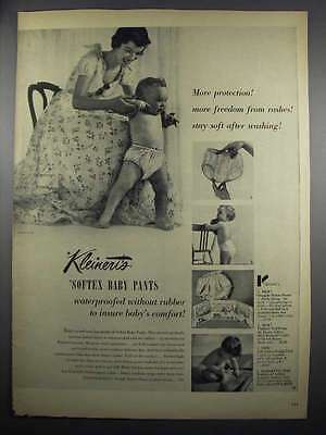 1950 Kleinert's Softex Baby Pants Ad - More Protection