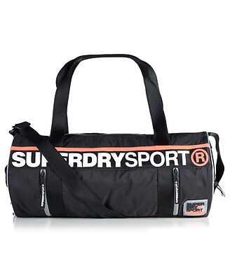 New Womens Superdry Super Sport Barrel Bag Black