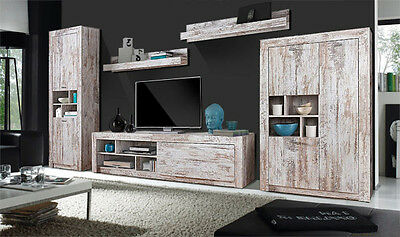 wohnwand anbauwand 5 teilig mit vitrine antik wei gewischt neu 380985 eur 369 00 picclick de. Black Bedroom Furniture Sets. Home Design Ideas