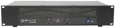 "Qtx Sound Qa1000 Power Amplifier 1000W 2U 19"" Inch Rack Pa Dj  Amp 172.025"