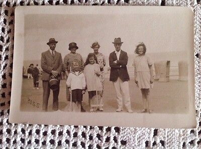 Social History - Real People Postcard/Photo - At The Seaside UNPOSTED