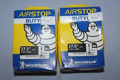 "Lot de 2 Chambre a air Velo MICHELIN BUTYL 27.5"" 1.9 <-->2.6 - B4 Presta"
