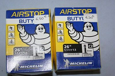 "Lot de 2 Chambre a air Velo MICHELIN BUTYL 26"" 1.1 <-->2.5 - C2 Standard"