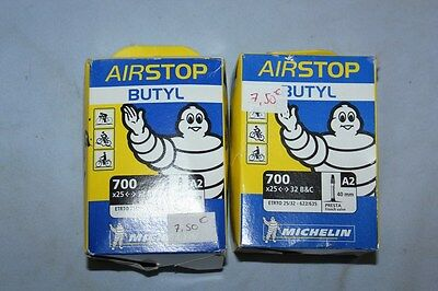 Lot de 2 Chambre a air Velo MICHELIN BUTYL A2 700x25-32 Presta