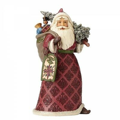 Jim Shore Heartwood Creek Dreaming Of Christmas Past  Victorian Santa Figurine