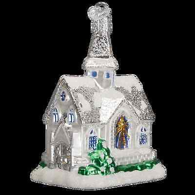 Sparkling Cathedral Church Glass Ornament Old World Christmas NEW