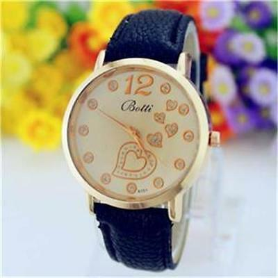 Gents Wristwatch - Gold Plated - Hearts - Gift Boxed - Free Uk P&P.....w0921
