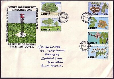 Zambia 1976 FDC: World Forestry Day