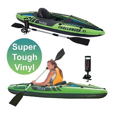 Intex Challenger K1 1 Man/Person Inflatable Kayak/Canoe & Oar River/Sea/Canal