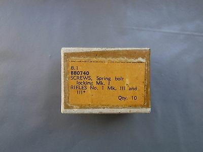 10 x Lee Enfield Safety Screws in Original Parts Box from A.J. Parkers BB0740