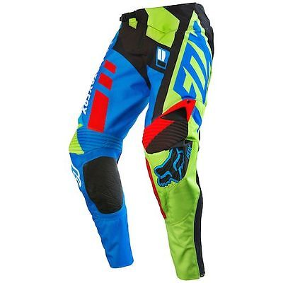 Fox Racing 360 Divizion Blue/yellow Pant And Jersey Combo - Discontinued! Mx/atv
