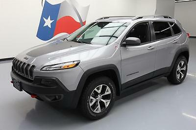 2017 Jeep Cherokee  2017 JEEP CHEROKEE TRAILHAWK 4X4 LEATHER REAR CAM 20K #519779 Texas Direct Auto