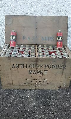 US Army Anti-Louse Powder Kills Lice Brit. Made 1945 AL 63 MKIII CM&R Cooper WK2