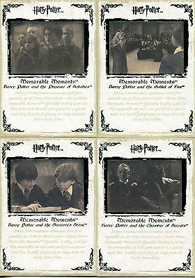 Harry Potter Memorable Moments Series 1 4 Card Green Promo Set - 3 Case Inc