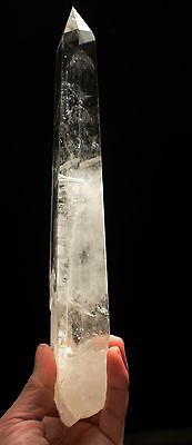 "685g Natural Clear ""Stone Inside Stone"" Quartz Crystal Point Healing"