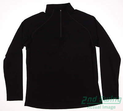 New Womens Sun Mountain 1/4 Zip Golf Pullover X-Large XL Black MSRP $100