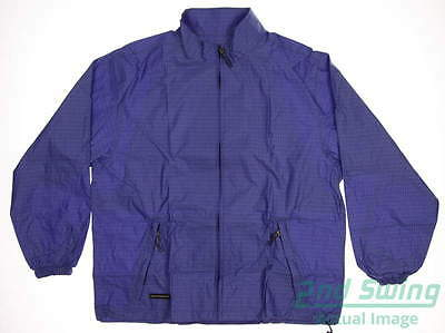 New Womens Sun Mountain Provisional Rain Suit Large L Blue/Black MSRP $120