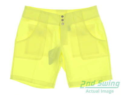 New Womens Jo Fit Belted Golf Shorts Size 4 Citron MSRP $80