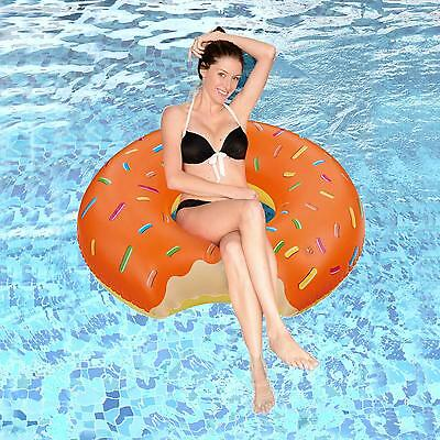 Donut Large Inflatable Pool Swim Rubber Ring Tyre Beach Tube Childrens/Adults