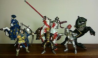 Papo Knights, Kings and 3 Horse figures bundle.