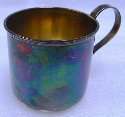 (#8) Antique Roden 925 Solid Sterling Silver Baby Cup 78g