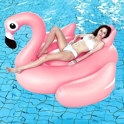Flamingo Large Inflatable Sun Lounger Swimming Pool Float Airbed Seat/Chair Lilo