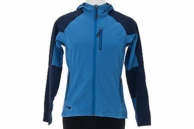 Outdoor Research Women's Ferrosi Hoody MEDIUM Blue Active Hike Camp Run