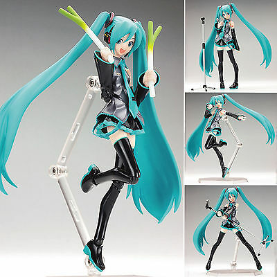 "15cm/6"" Anime Vocaloid Hatsune Miku Action Figma Figure Kids Toy Doll with box"