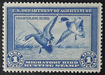 CKStamps: US Federal Duck Stamps Collection Scott#RW1 $1 Mint H OG Thin CV$350