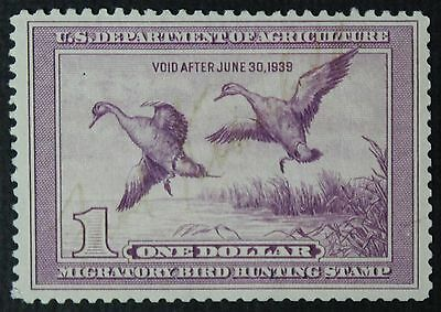 CKStamps: US Federal Duck Stamps Collection Scott#RW5 $1 Used CV$75