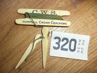 C. W . S Crumpsall cream crackers  advertising  vintage bowls measure