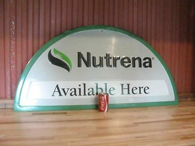 "Used Nutrena 47"" x 24"" Embossed Farm Feed Aluminum Sign Advertising"
