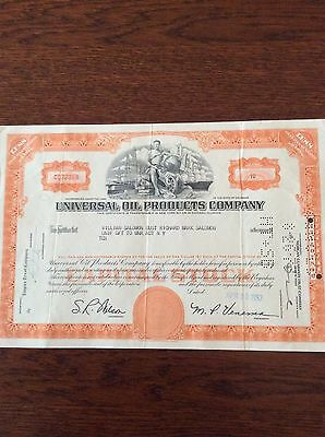 Universal Oil Products Dated 1962 10  Shares INVALID SHARE CERTIFICATE