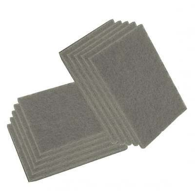 10 Scuff Pad Abrasive Surface Grey Scotch Type Cleaning Preperation Finishing