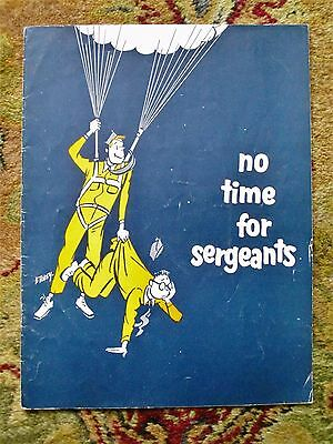 1965 NO TIME FOR SERGEANTS Program SIGNED by MYRON McCORMICK & LOUIS BEACHNER