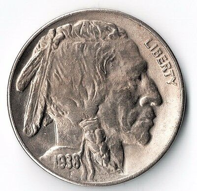 1938 D Gem Bu Buffalo Nickel With Toning No Reserve