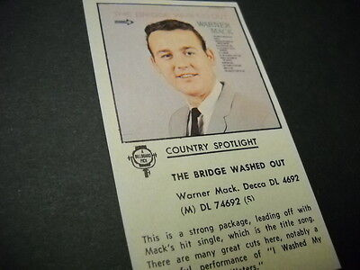 WARNER MACK The Bridge Washed Out original 1965 music biz promo album review