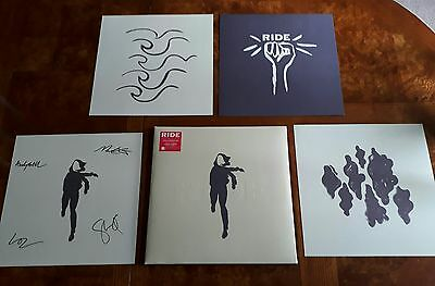 Ride - Weather Diaries - Red Vinyl Lp With Four Prints (One Fully Signed)