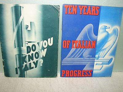2 - Italian Information Booklets - Fascist Party Propaganda - 1933.