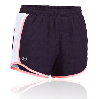 Under Armour Fly By Perforated Damen Laufhose Shorts Jogging Kurze Hose Blau