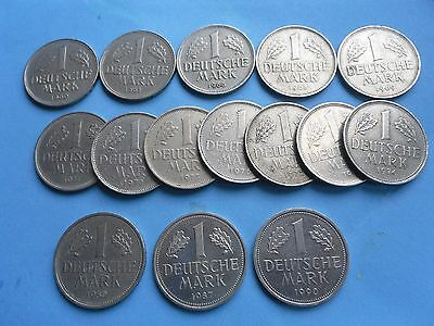 Germany, 15 - Mark Coins as shown, in Good Condition.