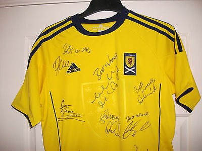Bnwt Scotland Signed Shirt Signed By 17 Past & Present Jordan Gray Ferguson Plus