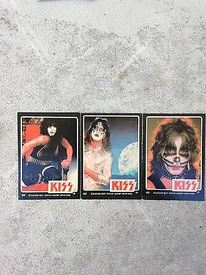 Kiss 1978 Aucoin Mgt Lot Of 3 Each Cards Different
