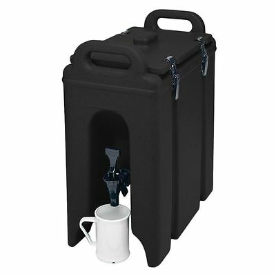 Cambro 250LCD110 Black 2.5 Gal. Beverage Camtainer