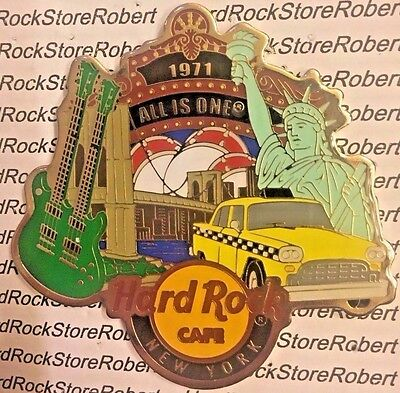 Hard Rock Cafe New York Statue Of Liberty, Bridge,taxi, Marquee, Guitar Magnet