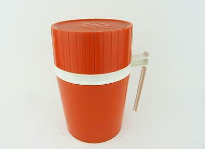 VINTAGE RETRO ORANGE THERMOS HOT COLD INSULATED LUNCH 10oz KING SEELY 7002 GLASS