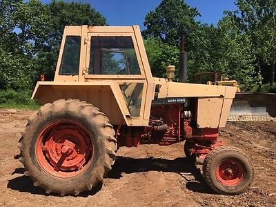 1973 Case IH Agri King 870 Farm Tractor Cab PTO 3 point hitch