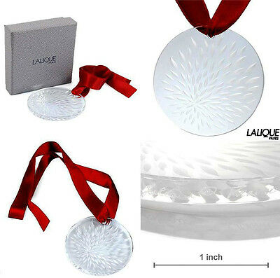 Authentic LALIQUE 2006 VIBRATION Clear Crystal Ornament Pendant Brand New in Box