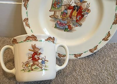 Royal Doulton Vintage Baby Breakfast Cup And Plate Set