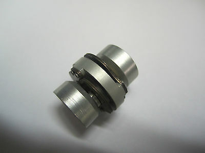"Servo motor flexible shaft coupling 1/4"" x 1/4"" aluminum double disc"